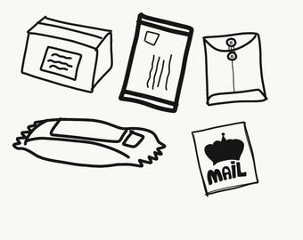 Mail // Clipart // Digital Art // Commercial Use