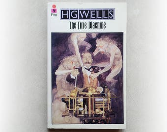 HG Wells - The Time Machine - Pan science fiction vintage paperback book - 1975