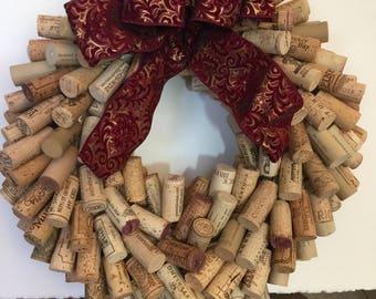 Wine Lovers Corks Wreath 12in , 14 in
