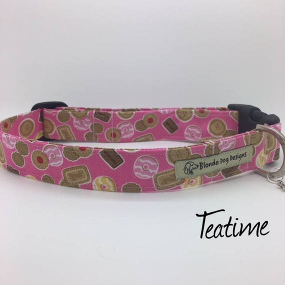 Pink Dog Collar, or, Pink Dog Lead, Teatime, Girl Dog Collar, Pink Collar, Pink Dog Leash, Luxury Dog Collar