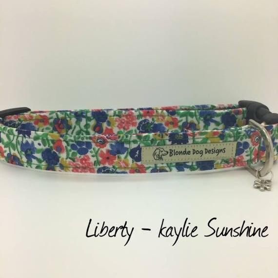 Liberty Dog Collar, Kaylie Sunshine, Floral Dog Collar, Luxury Dog Collar, Flowery Dog Collar, Liberty Collar.