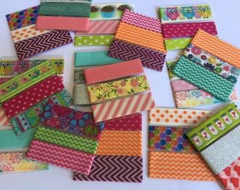 2 set of washi tape cards (random or you pick)