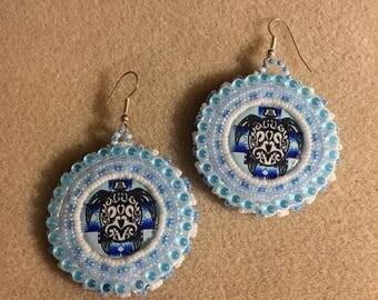 Water Clan Turtle Earrings
