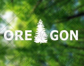 Oregon Evergreen Tree - car, window, laptop, tablet decal, pnw love, pnw pride, pnw decal, Oregon State decal, PDX, Made in Oregon