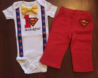 Superman 1st birthday, Boys birthday outfit, Baby boy first birthday, superman party, Baby boy second birthday, superman cake smash