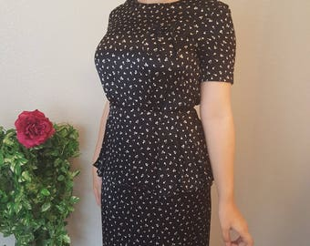 Vintage/Liz Claiborne/Satin dress/ Tag Size 6/Size 10/Modest/50's/