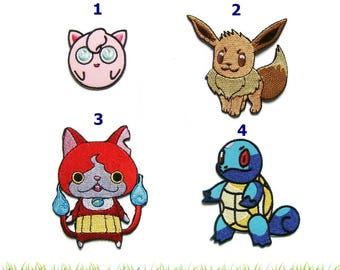 Pokemon Patches Applique Embroidered Iron on Patch