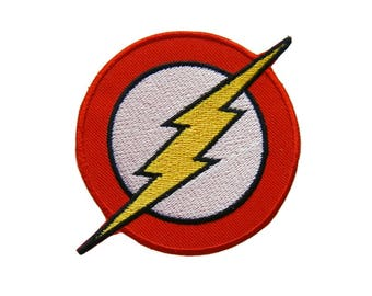 The Flash Patch Superhero Patches Applique Embroidered Iron on Patch