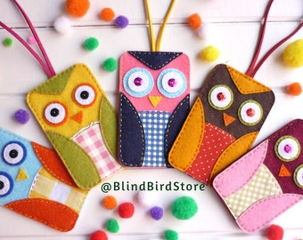 Identifier suitcase owls ~ luggage tag