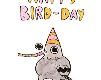 Card: Happy Bird-Day