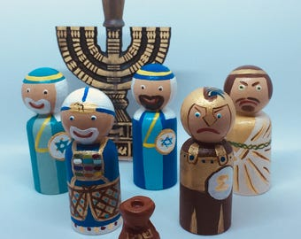 Chanukah/Hanukkah Peg Dolls