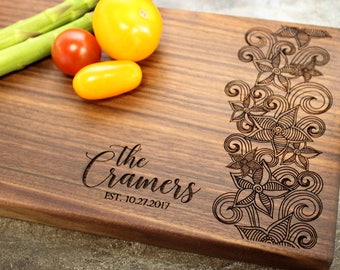 Personalized Cheese Board, Serving Board, Bread Board, Custom, Engraved, Wedding Gift, Housewarming Gift, Anniversary Gift, Engagement #6