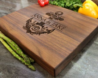 "Personalized Chopping Block 12x15x1.75"" - Engraved Butcher Block, Custom Chopping Block, Housewarming Gift, Wedding Gift #16"