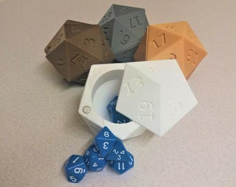 Die of Holding : D20 dice storage box | 3D Printed | DnD | Dungeons and Dragons | Table top gaming |