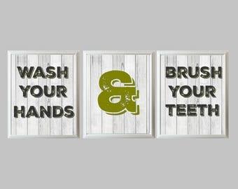 Bathroom Signs Brush Your Teeth bathroom reminder | etsy