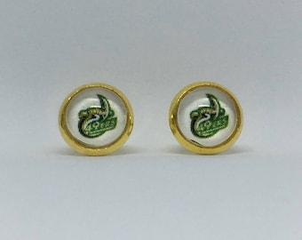 UNC Charlotte Cabochon Earrings