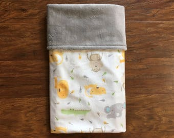 Minky Baby Blanket, Animal Minky Blanket, Zoo Minky Baby Blanket, Baby Shower Gift, Nursery Bedding, Play Mat, Baby Branch Boutique