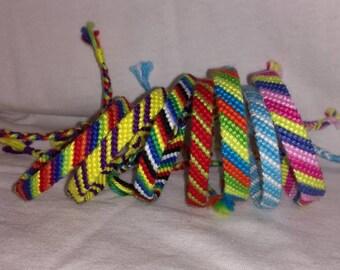 Colorful knotted bracelet, Friendship bracelet,Braided bracelet,String bracelet, Handwoven bracelet,Bracelet bresilien,Wrist band,Bohemian