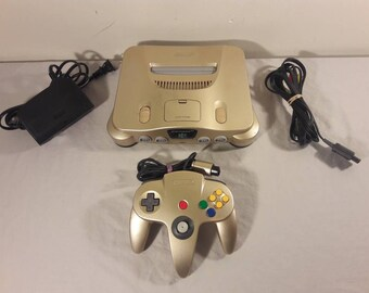 Original Limited Edition Toys R Us Gold Nintendo 64 Console Bundle (USA)