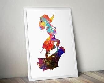 Neverland Map / Neverland Print / Neverland Art / Peter Pan Poster / Peter Pan Nursery / Captain hook poster
