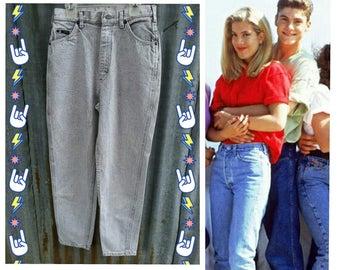 LEE acid wash gray white mom jeans high waisted VTG 80s 90s 4 women's grey 10?