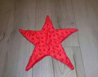 cuddly soft red star