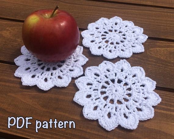 Crochet Coaster Pattern Coaster Crochet Pattern Cotton Coaster