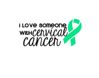 "Love Someone with Cervical Cancer | 5"" Vinyl Decal 