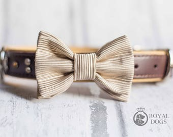 Gold Dog Bow Tie | Luxury Dog Gift | Wedding Bow Tie | Christmas Bow Tie | Formal Bow Tie | Gift For Pet | Dogs UK | Dog Wear | Bowtie