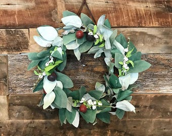 Figs and Eucalyptus Wreath