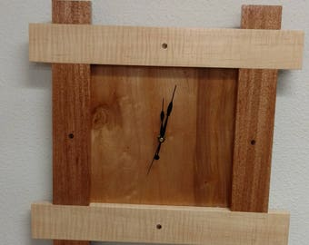 Maple & Mahogany Wall Clock