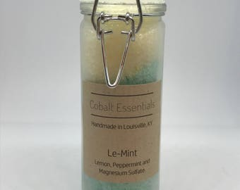Le Mint Bath Salts), Essential Oils, Essential Oil Bath Salts, Bath Salts For Calming, Sleep Aid, Peppermint Oil, Lemon Oil