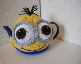 MINION teapot cosy / Knitted teapot cosy / Handmade teapot cosy / Handmade teapot cozy