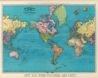 World Travel Map Etsy - All the world map