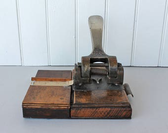Heavy Duty Hole Punch - vintage hole punch - 1930's - Vintage Office supplies - home office - desk top