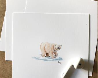 mini polar bear print
