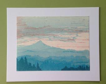 Mt. Hood, Letterpress print