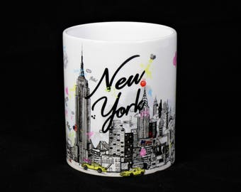 New York City Mug | Big Apple - Empire State Sketch Mug