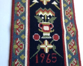 Vintage Swedish Wall Hanging/Handembroidery/Tapestry from 1965
