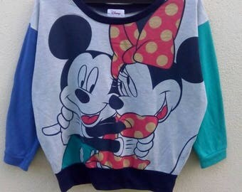 Rare!! Mickey mouse with minnie mouse sweatshirt