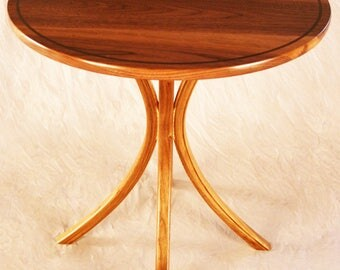 Walnut Sculpted Occasional Table