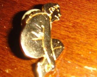 Pre-sale Hard to Find 1980's ACME Studios Gold Tone Pin-up Girl Lapel Pin / Brooch or Hat Pin