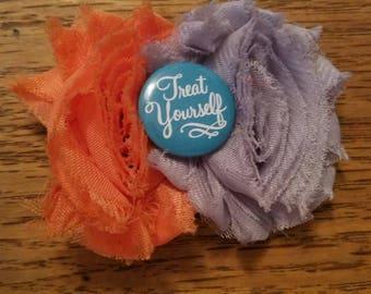 Treat Yourself Shabby flower Hair Clip