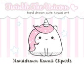 CUTE UNICORN CLIPART - High quality png clipart - kawaii clip art - cute clip art - instant download- kawaii clipart