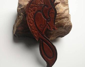 Leather pendant Dragon
