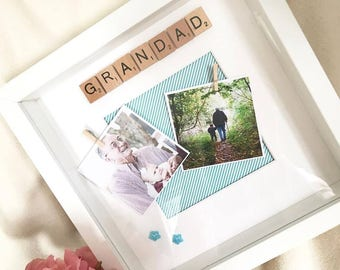 Grandad Frame | Grandad Scrabble Frame | Gifts for Him | Fathers Day | Personalised | Dad Gifts | Father Gifts | Grandfather Gifts