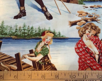 14 inches of Pin-up girls cotton fabric