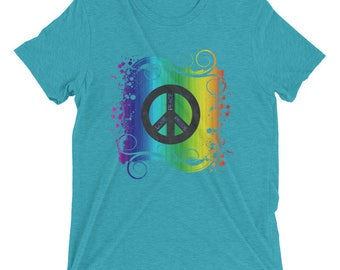 Peace Love & Pride Short sleeve t-shirt