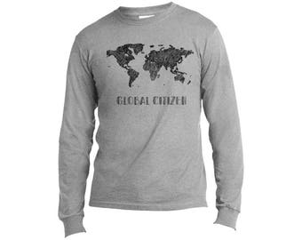 Global Citizen Long Sleeve Made in USA Travel Tee