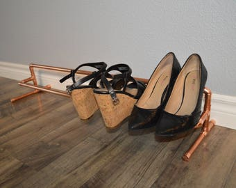 Copper Pipe Shoe Rack Freestanding